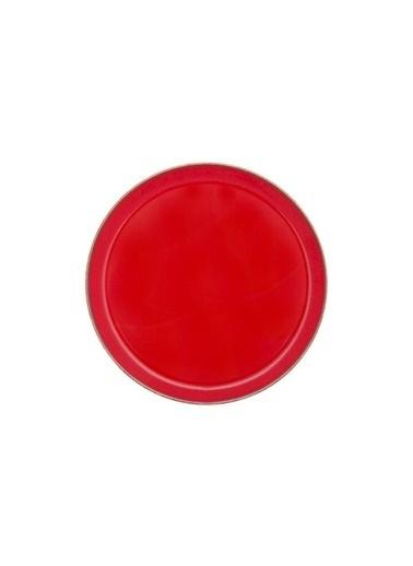 Porland Seasons Kırmızı Düz Tabak 24 Cm Renkli
